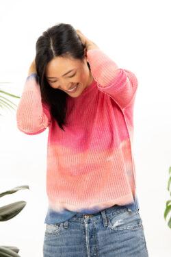 Paychi Guh | Watercolor Crew, Lipstick, 100% Premium Cashmere