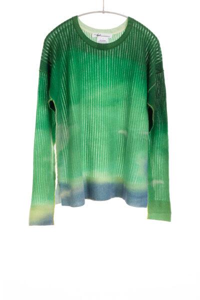 Paychi Guh | Watercolor Crew, Lush Green, 100% Premium Cashmere
