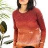 Paychi Guh | Watercolor Crew, Russet, 100% Premium Cashmere