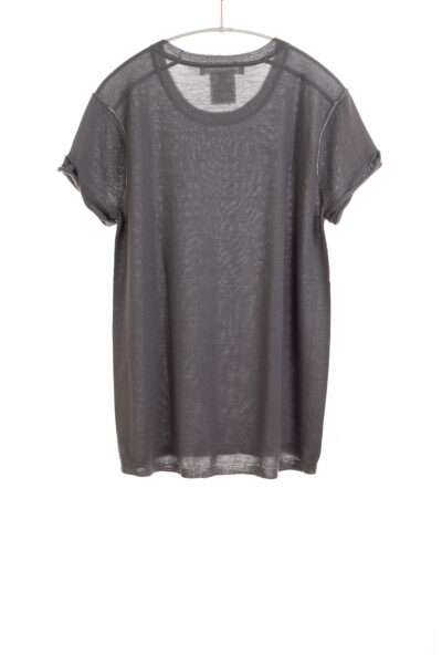 Paychi Guh | Baby Tee, Basalt, 100% Worsted Mongolian Cashmere