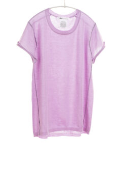 Paychi Guh | Baby Tee, Lavender, 100% Worsted Mongolian Cashmere