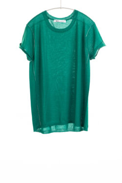Paychi Guh | Baby Tee, Lush Green, 100% Worsted Mongolian Cashmere