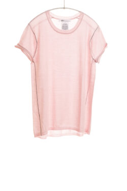 Paychi Guh | Baby Tee, Pale Pink, 100% Worsted Mongolian Cashmere