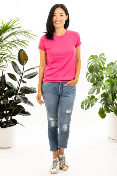 Paychi Guh | Baby Tee, Punch, 100% Worsted Mongolian Cashmere