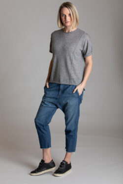 Paychi Guh | Weekend Tee, Med H Grey, 100% Worsted Mongolian Cashmere