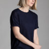 Paychi Guh | Weekend Tee, Navy, 100% Worsted Mongolian Cashmere