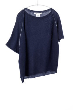 Paychi Guh | Airy Popover, Navy, 100% Airy Cashmere