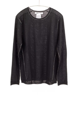 Paychi Guh | L/S Baby Tee, Black, 100% Fine Worsted Cashmere