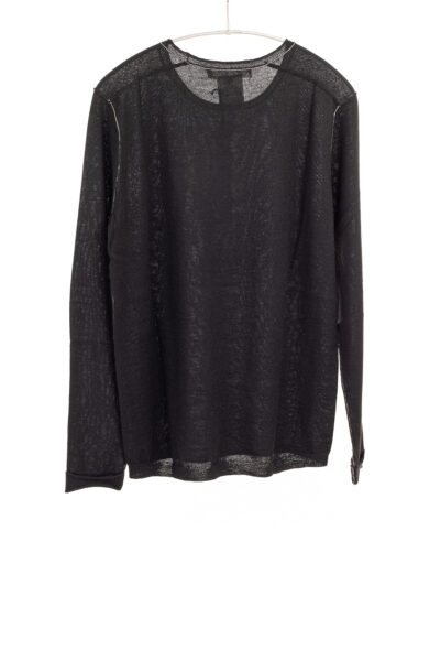 Paychi Guh   L/S Baby Tee, Black, 100% Fine Worsted Cashmere