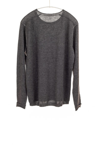 Paychi Guh   L/S Baby Tee, Charcoal, 100% Worsted Cashmere