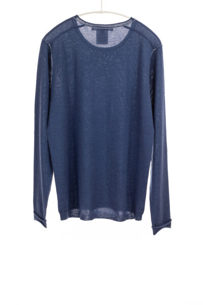 Paychi Guh   L/S Baby Tee, Cosmos Blue, 100% Worsted Cashmere