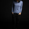 Paychi Guh | L/S Baby Tee, Misty Blue, 100% Worsted Cashmere