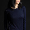 Paychi Guh   L/S Baby Tee, Navy, 100% Fine Worsted Cashmere
