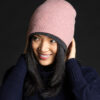 Paychi Guh   Slouchy Beanie, Ash Rose, 100% Cashmere