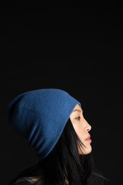 Paychi Guh | Slouchy Beanie, Blue Jay, 100% Cashmere