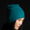 Paychi Guh | Slouchy Beanie, Bright Teal, 100% Cashmere