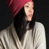 Paychi Guh | Slouchy Beanie, Coral, 100% Cashmere