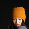Paychi Guh | Slouchy Beanie, Gold, 100% Cashmere