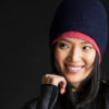 Paychi Guh   Slouchy Beanie, Navy, 100% Cashmere