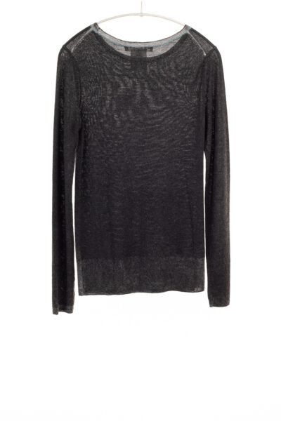 Paychi Guh   Printed Bateau, Black, 100% Worsted Cashmere
