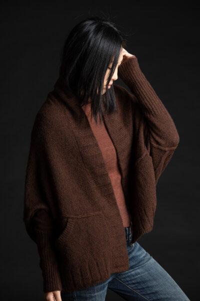 Paychi Guh | Dreamy Cozy Cardigan, Americano, 100% Dreamy Cashmere