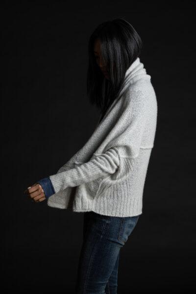 Paychi Guh | Dreamy Cozy Cardigan, Mist, 100% Dreamy Cashmere