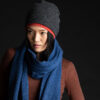 Paychi Guh | Textured Scarf, Atlantic, 100% Cashmere