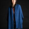 Paychi Guh   Textured Scarf, Atlantic, 100% Cashmere