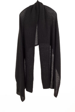 Paychi Guh | Textured Scarf, Black, 100% Cashmere