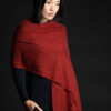 Paychi Guh   Textured Scarf, Saffron, 100% Cashmere