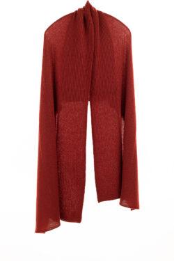 Paychi Guh | Textured Scarf, Saffron, 100% Cashmere