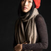 Paychi Guh | Textured Scarf, Toast, 100% Cashmere