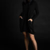 Paychi Guh | Dress, Black, 100% Mongolian Cashmere