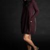Paychi Guh   Dress, Currant/Charcoal, 100% Mongolian Cashmere
