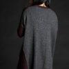 Paychi Guh   Dress, Grey Speckle/Black, 100% Mongolian Cashmere
