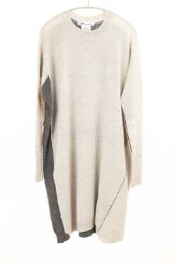 Paychi Guh | Dress, Snow Speckle/Thunder, 100% Mongolian Cashmere