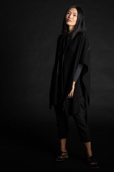 Paychi Guh   Wrap, Black, 100% Mongolian Cashmere