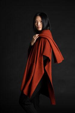 Paychi Guh | Wrap, Brandy, 100% Mongolian Cashmere