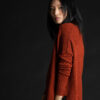 Paychi Guh   Mock Pullover, Brandy, 100% Mongolian Cashmere