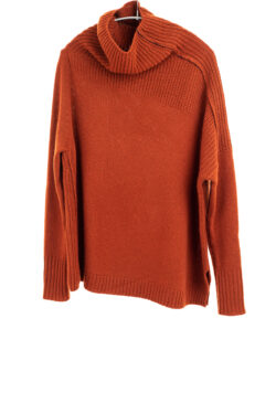 Paychi Guh | Mock Pullover, Brandy, 100% Mongolian Cashmere