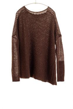 Paychi Guh | Dreamy Reversible Pullover, Americano Tonal, 100% Dreamy Cashmere