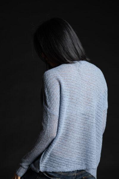 Paychi Guh | Dreamy Reversible Pullover, Atlantic Tonal, 100% Dreamy Cashmere