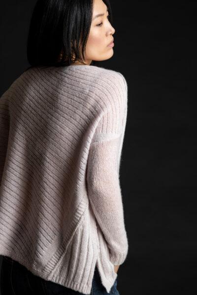 Paychi Guh | Dreamy Reversible Pullover, Lavender/Mist, 100% Dreamy Cashmere