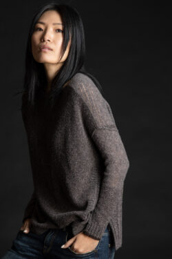Paychi Guh | Dreamy Reversible Pullover, Musk/Chocolate, 100% Dreamy Cashmere