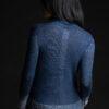 Paychi Guh | Printed Wrap Top, Indigo, 100% Worsted Cashmere