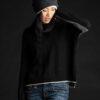 Paychi Guh | Contrast Crew, Black/Thunder, 100% Mongolian Cashmere