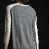 Paychi Guh | Contrast Crew, Snow Speckle/Thunder, 100% Mongolian Cashmere