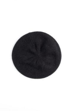 Paychi Guh | Beret, Black, 100% Cashmere