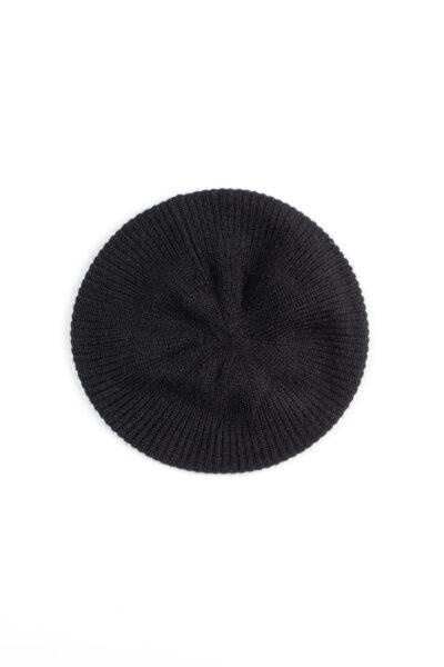 Paychi Guh   Beret, Black, 100% Cashmere
