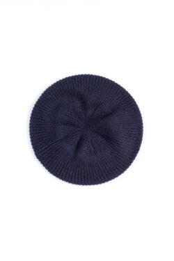 Paychi Guh | Beret, Navy, 100% Cashmere